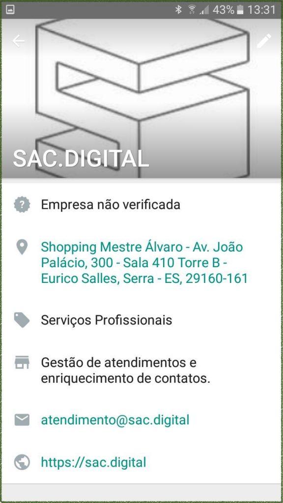 perfil da empresa no whatsapp