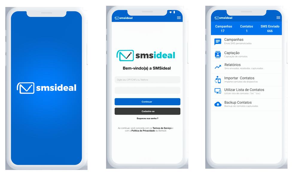 Com o SMS Ideal você poderá contatar seus clientes rapidamente e de onde estiver.