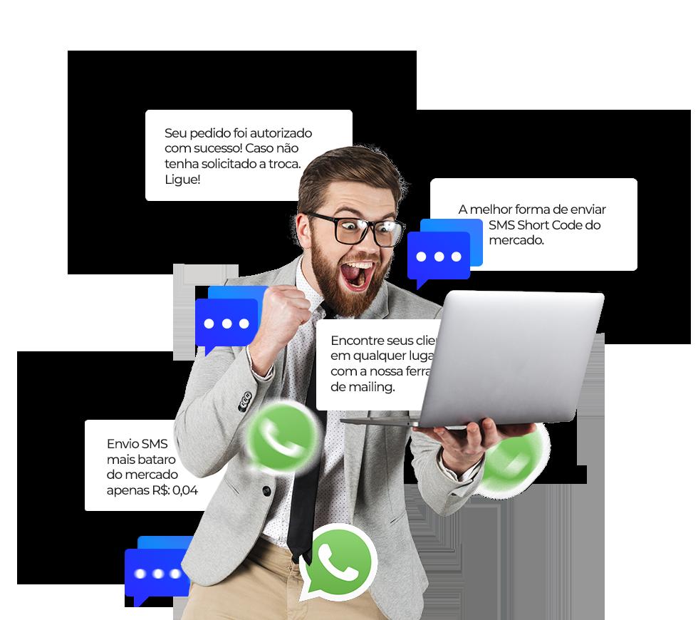 Seu negócio enviando mensagens de sms em massa