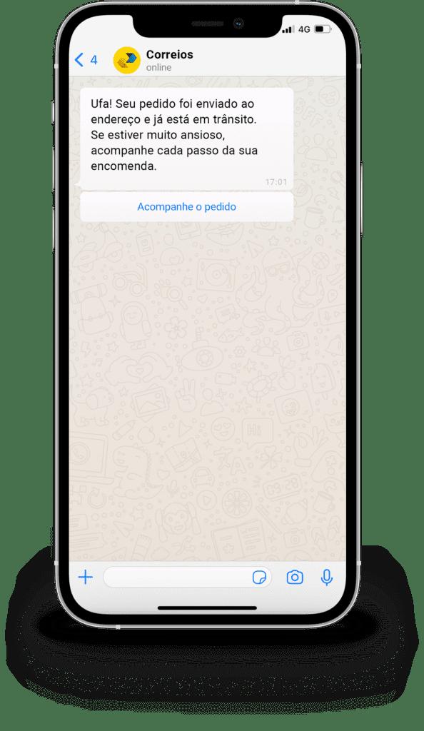 Notificação via WhatsApp Business API dos correios